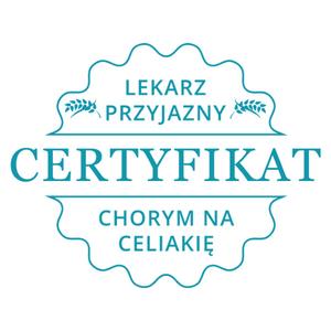 certyfikat lekarz przyjazny chorym na celiakię